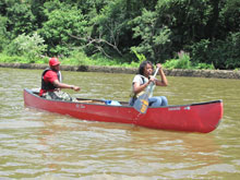 Canoeing on the Anacostia River
